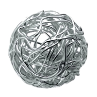 "Bead ""Wire Ball"" 20mm, Silver (1 pc/VE)"
