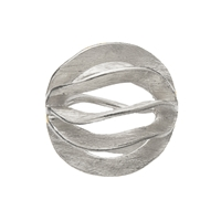 "Bead (Gill"", 12mm, Silver frosted (1 pc/VE)"