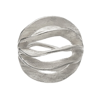 "Bead ""Gill"" 16mm, Silver frosted (1 pc/VE)"