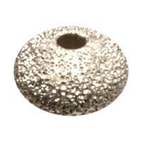 Saucer 6mm, Silver stardust (12 pc/VE)