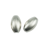 Olive 3mm, Silver frosted (50 pc/VE)