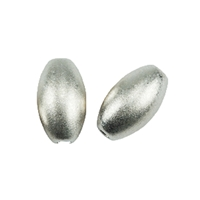 Olive 4mm, Silver frosted (26 pc/VE)