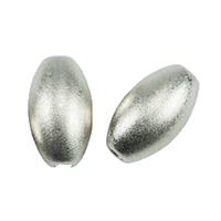 Olive 6mm, Silver frosted (7 pc/VE)