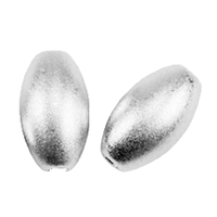 Olive 8mm, Silver frosted (4 pc/VE)
