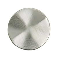 Round Plate with Wave 30 mm, Silver frosted (1 pc/VE)