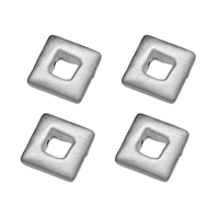 Square 12mm, Silver (4 pc/VE)