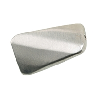Rectangel curved with faccets 20 mm, Silver frosted (3 pc/VE)
