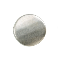 Round Plate facetted 15mm, Silver frosted (3 pc/VE)