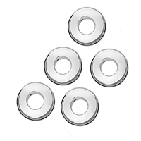Donut 10 mm, Silver frosted (5 pc/VE)