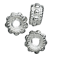 Roundel with Ornaments 5mm, Silver, 19pc/sales unit