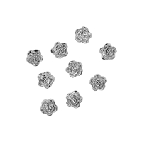 Rose 6mm, Silver (9 pc/VE)