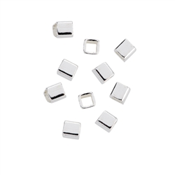 Cube square 02mm, Silver (135 pc/VE)