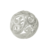 "Bead ""Florere"" 17mm, Silver frosted (1 pc/VE)"