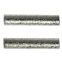 Tube 2x15mm, Silver frosted (15 pc/VE)