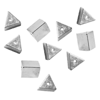 Triangles drilled long side 4mm, Silver (10 pc/VE)