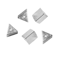 Triangles drilled long side 5mm, Silver (5 pc/VE)