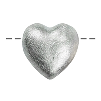 Heart 14mm, Silver frosted (3 pc/VE)