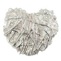 Heart Wire 30 mm, Silver (1 pc/VE)