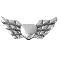 "Wing ""Herz"" 22mm, Silver (4 pc/VE)"