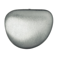 Pebble 30mm, Silver frosted (1 pc/VE)