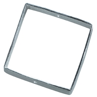 Frame square 30mm, Silver frosted (2 pc/VE)