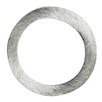 Disc round 17mm, Silver frosted (4 pc/VE)