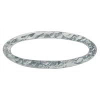 Disc oval 40mm, Silver hammered (2 pc/VE)