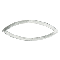 Disc Navette 35mm, Silver frosted (3 pc/VE)