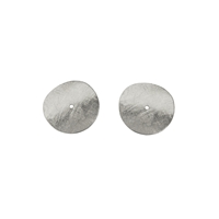 Disc curved 08mm, Silver frosted (12 pc/VE)