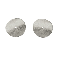 Disc curved 15mm, Silver frosted (5 pc/VE)