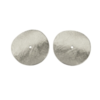 Disc curved 20mm, Silver frosted (4 pc/VE)