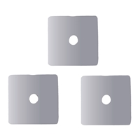 Disc Square 05 x 05mm, Silver (20 St./VE)