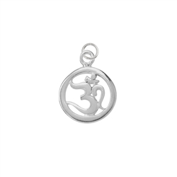 Om Symbol with Loop 15mm, Silver (1 pc/VE)