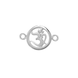Om Symbol with two Loops 13mm, Silver (1 pc/VE)