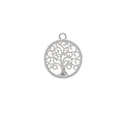 Tree of Life with one Loop 15mm, Silver (1 pc/VE)