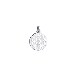 Flower of Life with Eyelet and Ring 10mm, Silver (4 pc/VE)