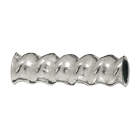 Contorted Tube 8x3mm, Silver (30 pc/VE)