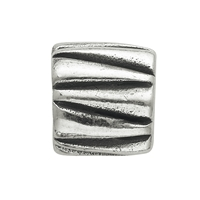 Chili Bead, Drum with Triangel, 925 Silver, 12mm