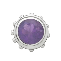 Diabolo Amethyst, Silver, 12mm (1 pc/VE)	