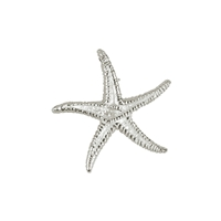 Seestern/Starfish 17mm, Silver (2 pc/VE)