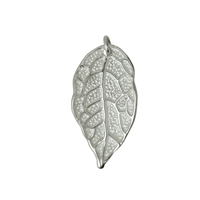 Rose Leaf with loop 26mm, Silver (2 St./VE)