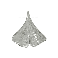 Ginko Leaf 20mm, Silver (2 pc/VE)