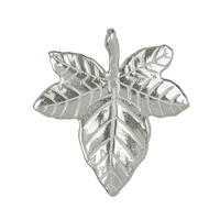 Efeublatt/Ivy Leaf with loops and drilling 21mm, Silver (2 pc/VE)