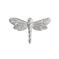 Dragonfly with four loops 20mm, Silver (1 pc/VE)
