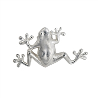 Frog with loops 22mm, Silver (1 pc/VE)