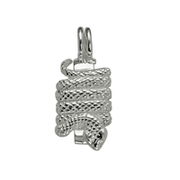 "Donut Hinge ""Snake"" Silver, for 30mm donut"
