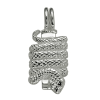 "Donut Hinge ""Snake"" Silver, for 40mm donut"