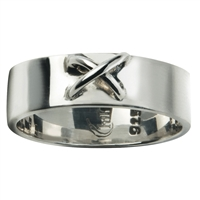 Ring with Wire Cross Size 57, Silver (1 pc/VE)