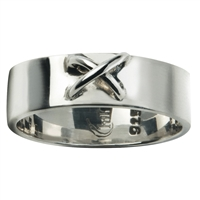 Ring with Wire Cross Size 59, Silver (1 pc/VE)