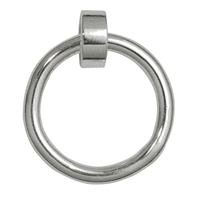 "Hanger for Charms ""Ring with Loop"" frosted, 14mm (3 pc/VE)"
